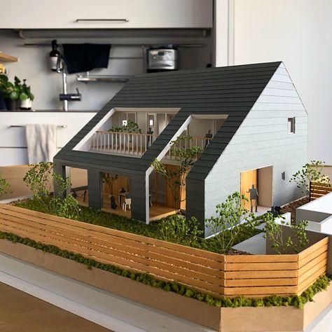 Architectural Model 住宅模型 住宅建築デザイン 建築デザイン