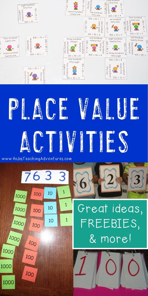 If youre on the lookout for great place value activities you can use in the elementary classroom, youve come to the righ Place Value Games, Place Value Activities, Math Activities, Place Value Centers, Fourth Grade Math, Second Grade Math, Grade 3, 6th Grade Math Games, Second Grade Freebies