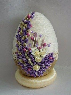 Piekne Jajka Pisanki Sznurkowe Ozdoby Wielkanocne 6733177767 Oficjalne Archiwum Allegro Egg Shell Art Easter Egg Decorating Easter Crafts