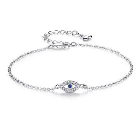 Femmes Lady Argent Sterling 925 Fraise Crystal Quartz Bead Chain Bracelet