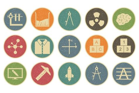 Set Of Education and Learning Icons (443996)   Icons   Design Bundles