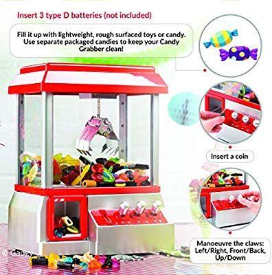 Gadgy Candy Grabber Avec Bouton De Muet Machine Attrape à Bonbons De Pince Distributeur à Bonbons Fete Foraine Anniversaire Bonbon Jouet Anniversaire