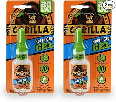 Gorilla Super Glue Gel 20 Gram Clear 2 Pack Fast Drying No Run Super Tough In 2020 Super Glue Adhesives Sealant