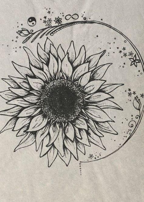 Projekt Social T Mineralized Sunflower Tee - Kunst Sunflower Tattoo Meaning, Sunflower Tattoo Sleeve, Sunflower Tattoo Shoulder, Sunflower Tattoo Small, Sunflower Drawing, Sunflower Tattoos, Sunflower Tattoo Design, Sun Tattoo Meaning, White Sunflower