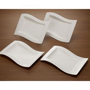 Villeroy And Boch New Wave Gourmet Set 4 Pieces Plate Sets