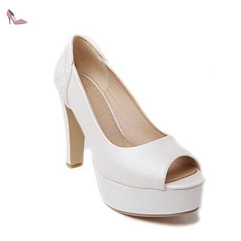 balamasa pour femme à enfiler haut talons Sandales Matière souple - Blanc -  blanc, 35.5 - Chaussures balamasa ( Partner-Link) 03080ca024ac