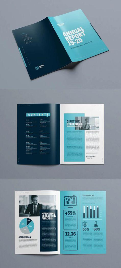 Annual Report Design Template InDesign