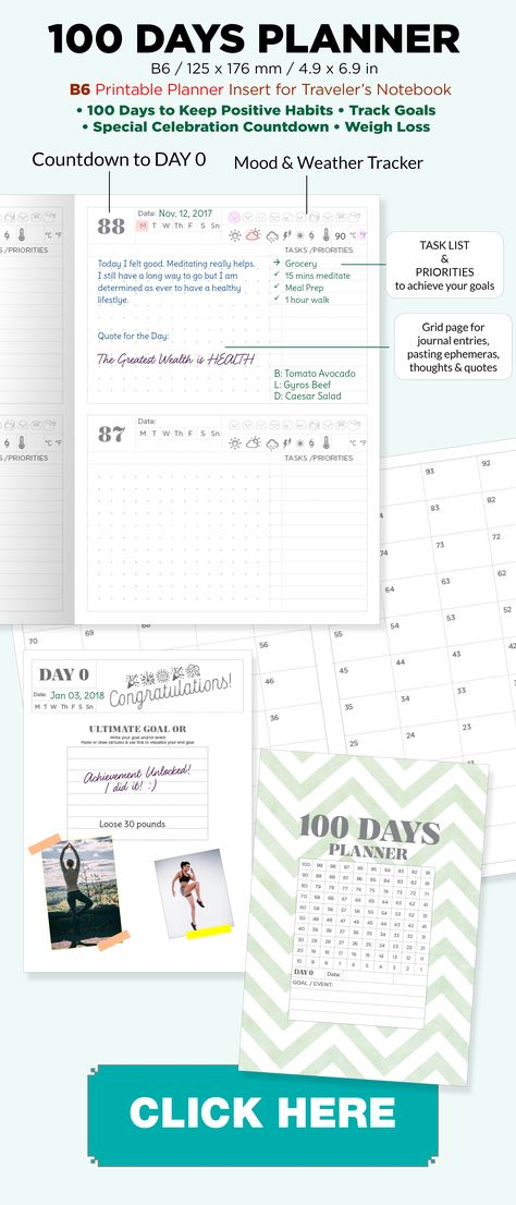 image relating to 100 Day Countdown Printable identified as Pinterest