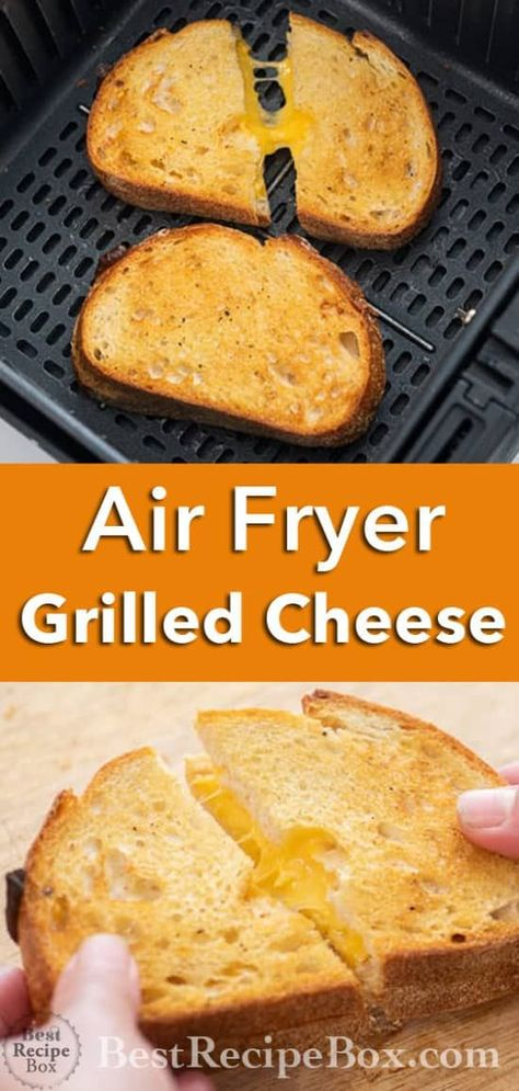 Air Fryer Grilled Cheese Sandwich- Best and Easy ! | Best Recipe Box Air Fryer Recipes Vegetarian, Air Fryer Oven Recipes, Air Frier Recipes, Air Fryer Dinner Recipes, Easy Brunch Recipes, Air Fryer Rotisserie Recipes, Air Fryer Cooking Times, Cooks Air Fryer, Grill Cheese Sandwich Recipes