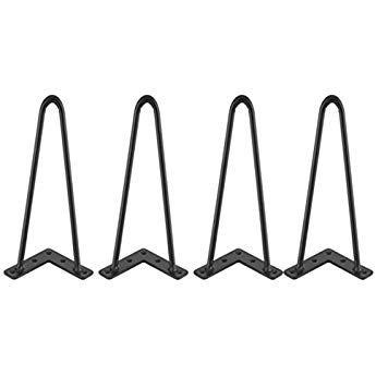 4 Hauteurs au Choix 4pcs Pieds de Table en Epingle /à Cheveux DIY Jambes de Meuble de Table en M/étal Id/éal pour Ranplacement de Table Chaise DIY Fabricant Pieds de Table en Fer 16