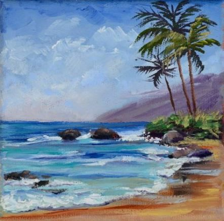 New Painting Ideas On Canvas Sunset Beach Ideas Beach Sunset Painting Sunset Canvas Painting Sunset Painting
