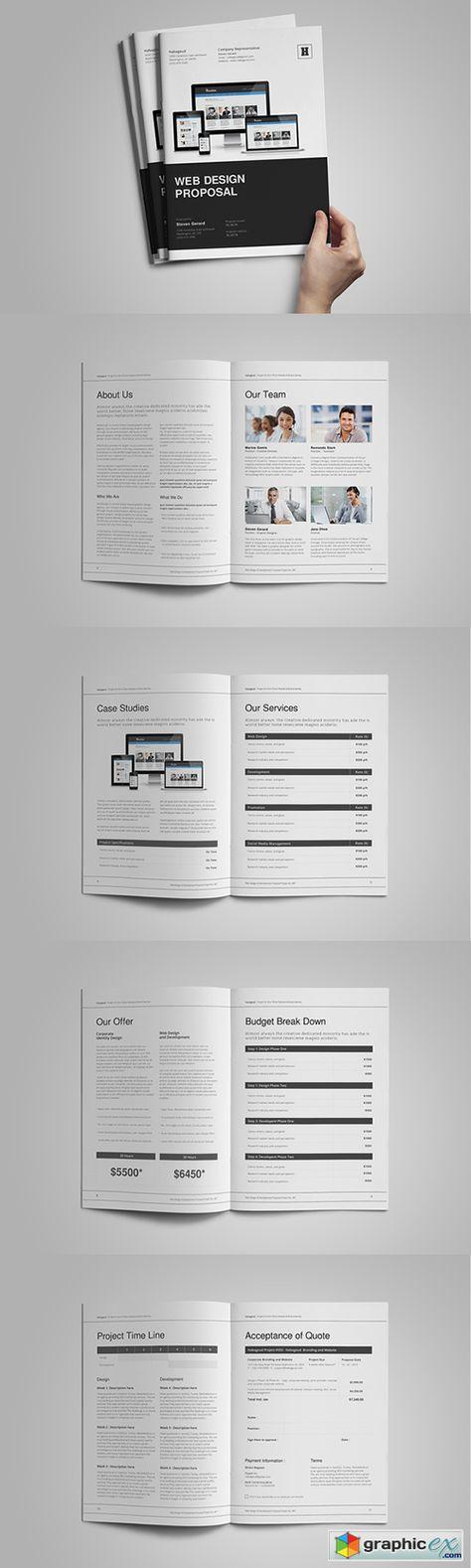 Web Design Proposal Template Pinterest Proposals, Vector - interior design proposal template