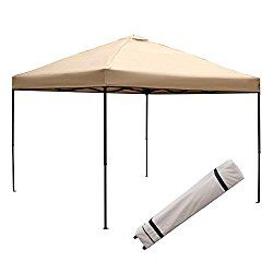 Blissun 10 X 10 Ft Outdoor Portable Instant Pop Up Canopy Tent With Roller Bag New Beige Pop Up Canopy Tent Canopy Tent Gazebo Pergola