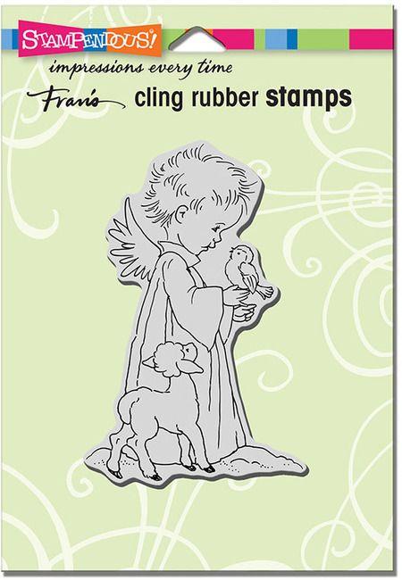 Stampendous Cling Stamp Birdie Cherub CRP326