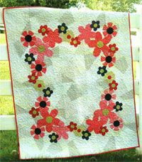 Cellophane Flowers Quilt Pattern by Abbey Lane Quilts at KayeWood.com. CELLOPHANE FLOWERS is an adorable quilt that is perfect for that little girl. The background is actually 5 different fabrics and the flowers are appliqued using our straight stitch applique method. It is super fast to put together. http://www.kayewood.com/item/Cellophane_Flowers_Quilt_Pattern/3814 $10.00