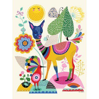 Zoomie Kids Mcmillian Llama Happiness Canvas Art In 2021 Art Wall Kids Canvas Wall Art Art