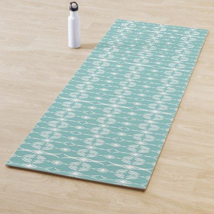 Abstract Pattern Blue And White Yoga Mat Yogamats Yoga