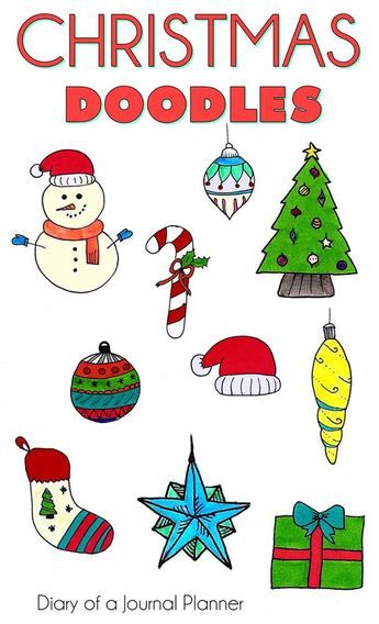Easy Christmas Doodles 10 Cute Christmassy Bullet Journal Doodles