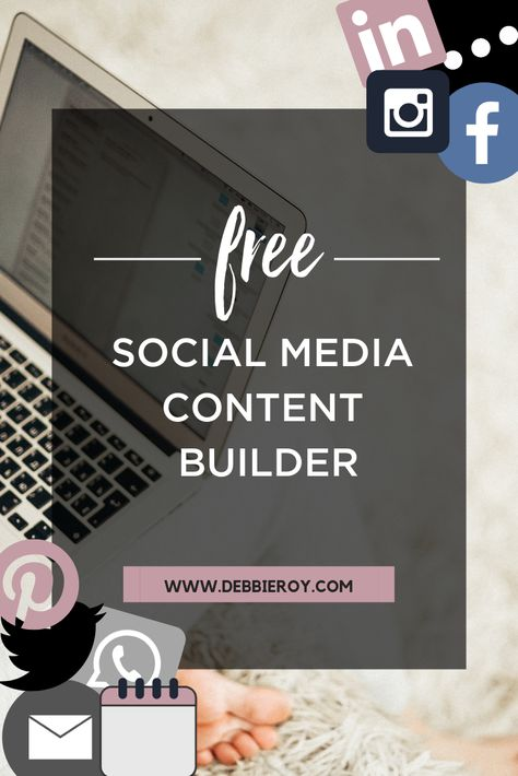 Download my free content builder to get social media content ideas for every day of the week no matter what type of business you are! #SocialMedia #Marketing