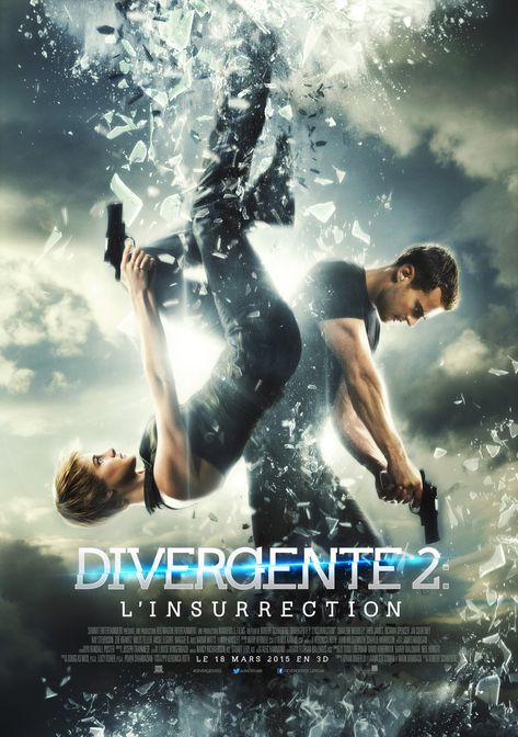 Divergente 2 : l'insurrection est un film de Robert Schwentke avec Shailene Woodley, Miles Teller. Synopsis : Dans un monde post-apocalyptique où la société a été réorganisée autour de 5 factions (Audacieux, Erudits, Altruistes, Sincères et Fraternels), Tris a