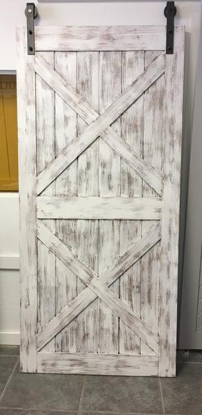 Shabby Chic White Distressed Barn Door Barn Door Door Inspiration White Barn Door