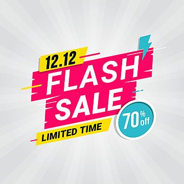 Flash Sale Banner Template Special Offer With Sale Illustration Offer Png And Vector With Transparent Background For Free Download Spanduk Vektor Gratis Lencana