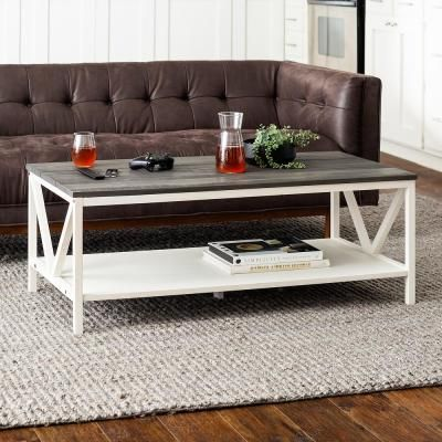 15++ Two tone farmhouse coffee table most popular