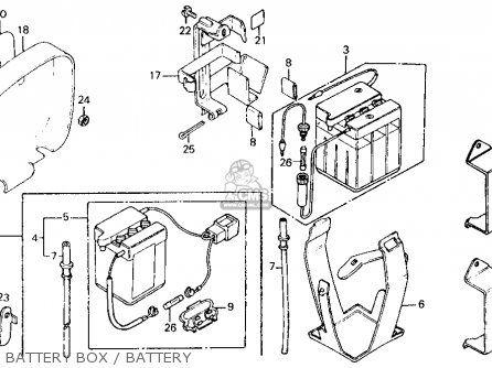 Honda Ct110 Trail 110 1986 Usa Battery Box Battery Honda bike