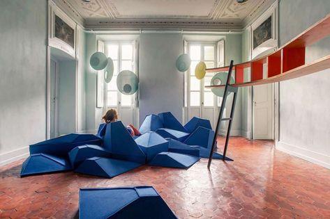 Cuscini Seduta A Terra.Cuscini Componibili Che Vestono Lo Spazio Mobili Design Di