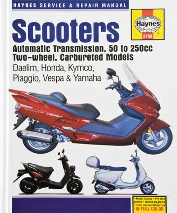 Advertisement Ebay Haynes Shop Repair Manual M2760 Honda Yamaha Vespa Kymco Piaggio 70 1061 274340 Scooter Vespa