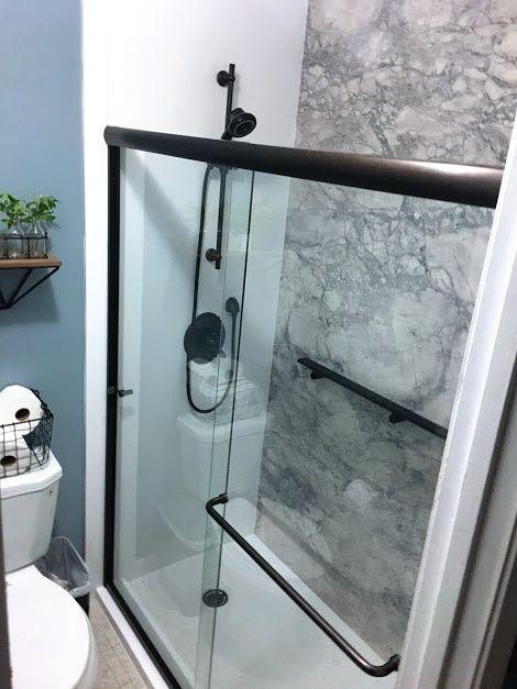 Flexstone Shower : flexstone, shower, FlexStone, Neutral, Sides, Clean,, Stunn…, Bathroom, Mirror, Makeover,, Vanity, Decor,, Vintage