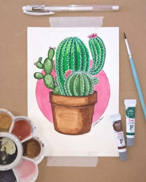 """002 - """"ouch!"""" 🌵 #cactus #cactos #sketch #drawing #color     The market in cactus house plants is booming and with very good reason. These prickly little guys are great fun, easy to keep and very attractive. Exactly why do so many individuals ignore the... #Agra #Art #artmaterials #cactos #Cactus #cactus art #cactus decor #cactus garden #cactus indoor plant #cactus plants #color #drawing #Gidé #green #illustration #illustrator #Ilustrador #Instagram #material #ouch #pink #sketch #Watercolor"""