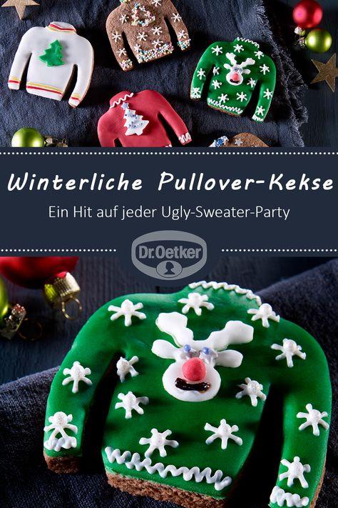 Winterliche Pullover Kekse