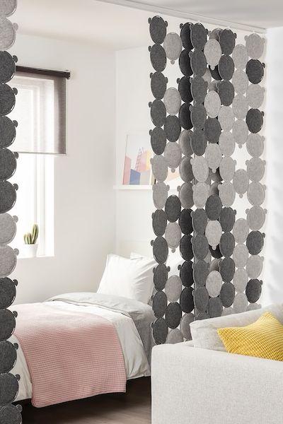 Oddlaug Schiebegardine Gerauschdammend Grau Ikea Deutschland Raumteiler Ikea Raumteiler Raumteiler Vorhang