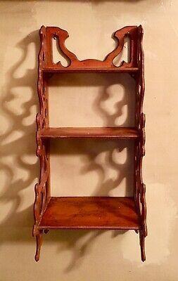 Ebay Link Vintage 3 Tier Wooden Hanging Wall Shelf Knick Knack