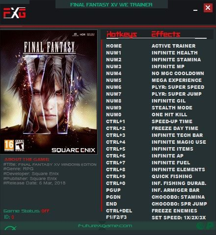 final fantasy xv hack | G a m i n g | Final fantasy xv