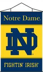 NCAA Notre Dame Indoor Scroll Banner