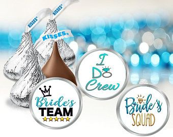 108 Bridal Shower hershey kiss stickers bride to be kisses labels favors party