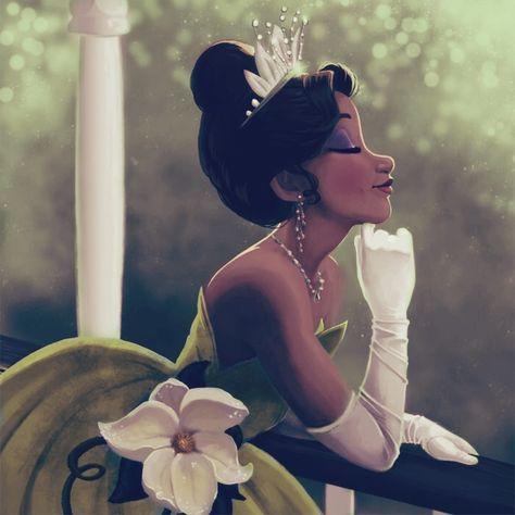 The Princess and the Frog, 2009 Black Girl Cartoon, Black Girl Art, Black Women Art, Disney Artwork, Disney Fan Art, Disney Drawings, Art Drawings, Princesa Tiana, Film Disney