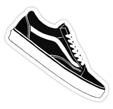 Black Shoe Sticker