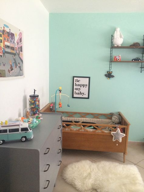 "Affiche Be happy my baby ""Studio jolis mômes"" (www.studiojolismomes.com) chez Lovely vintage"