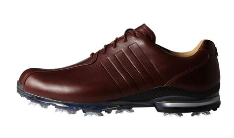 new arrival e511a 89a7c adidas Golf adipure TP Mens Golf Shoes - Red Wood Red Wood Dark Silver  Metallic - Q44676