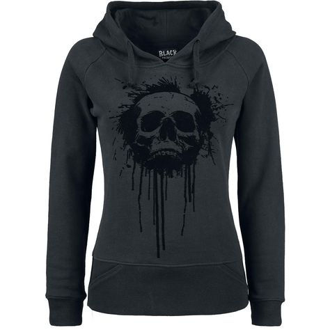 Hoodie by Black Premium by EMP:  - flock print in the front - covered front pocket in the cuff - hood with drawstring - broad cuffs at the hem and the sleeves
