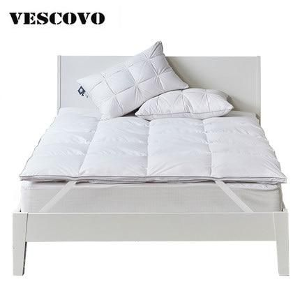 Comfortable Sleep Goose Duck Down Featherbed Mattress Topper Protecter Pad Top Mattress Topper Sleep Comfortably Bed Mattress