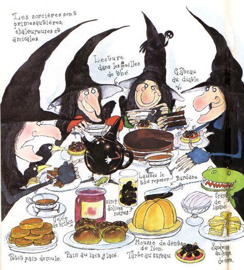 """Illustration par Colin Hawkins, extrait du livre """"Les Sorcières"""" chez Albin Michel Jeunesse."""