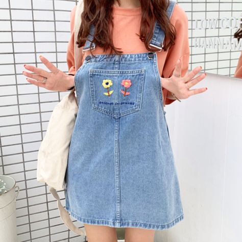 Shop the latest products on Storenvy, home of the world's independent small businesses. Korean Outfits, Retro Outfits, Vintage Outfits, Casual Outfits, Summer Outfits, Cute Outfits, Dungarees Outfits, Denim Dungarees, Dress Outfits