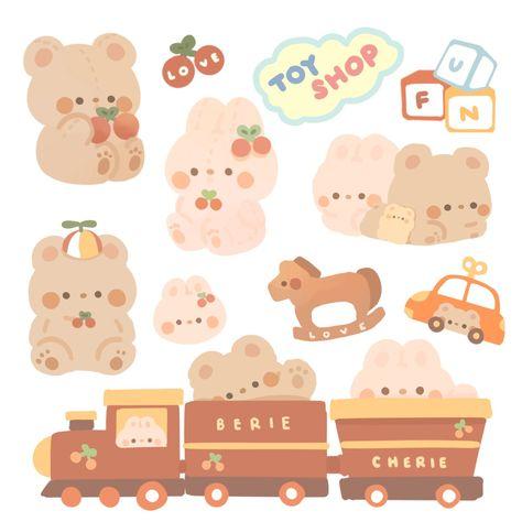 Cute Pastel Wallpaper, Kawaii Wallpaper, Kawaii Stickers, Cute Stickers, Journal Stickers, Planner Stickers, Kawaii Drawings, Cute Drawings, Korean Stickers