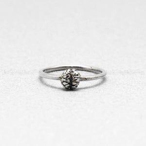 925 Sterling silver Skull Ring Rose skull silver ring Unique | Etsy
