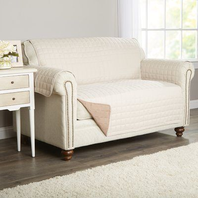 Basics Wayfair Basics Box Cushion Loveseat Slipcover Armchair Slipcover Slipcovers For Chairs Loveseat Slipcovers