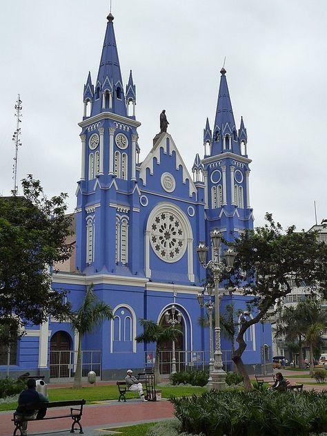 Travel Inspiration for Peru - Blue church, Lima, Peru.